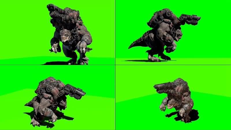 绿幕视频素材战争机器