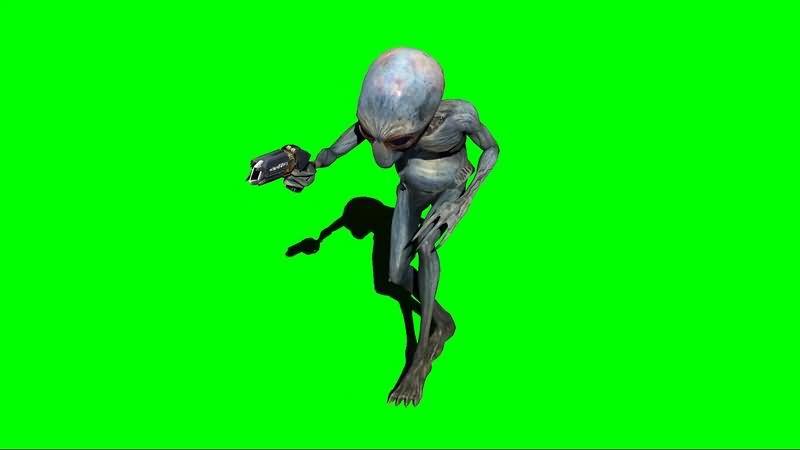 绿幕视频素材ET外星人