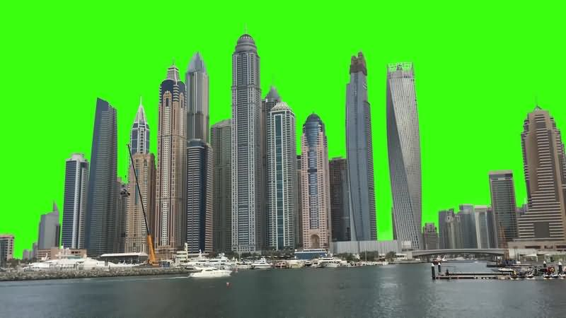 绿幕视频素材高楼大厦