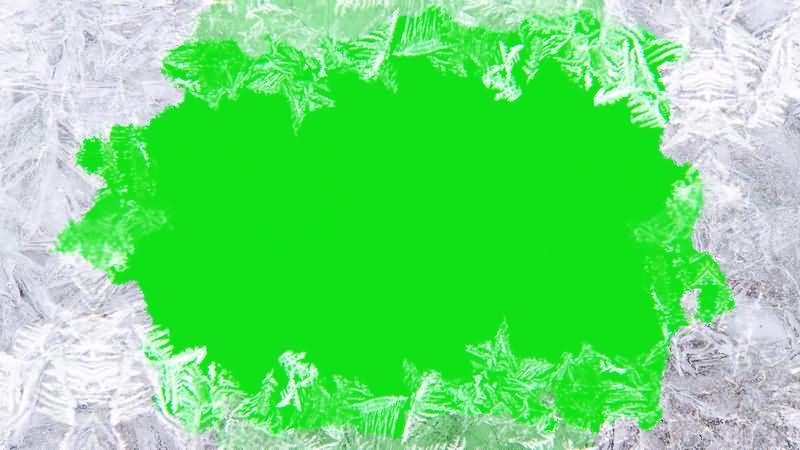 绿幕视频素材冰冻冰花