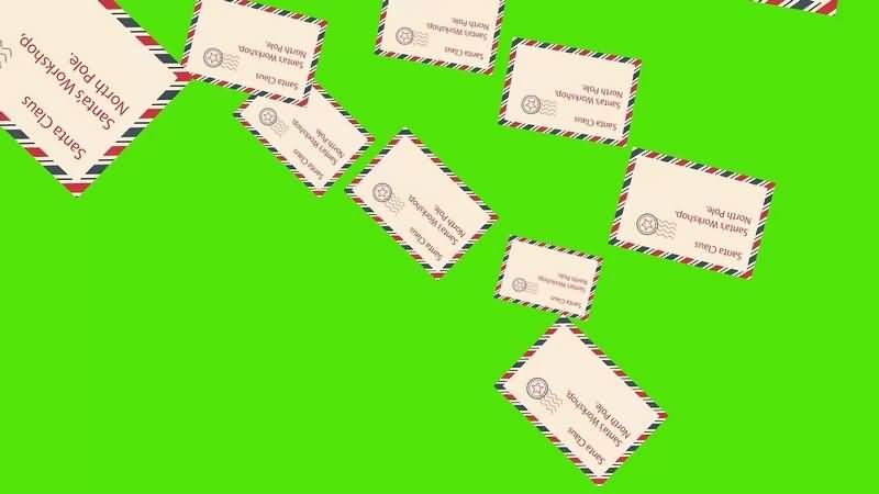 绿幕视频素材信封