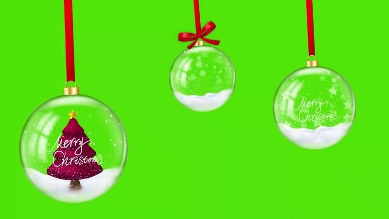 绿幕视频素材圣诞挂饰