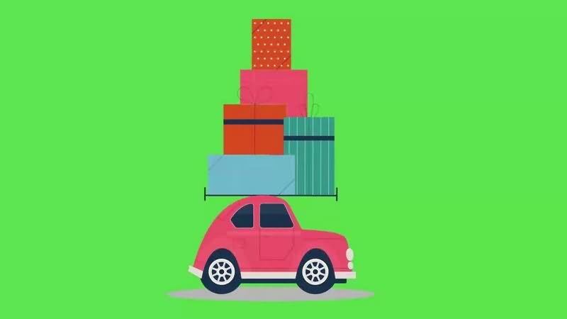 绿幕视频素材汽车搬家