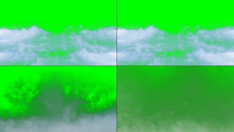 绿幕视频素材烟雾
