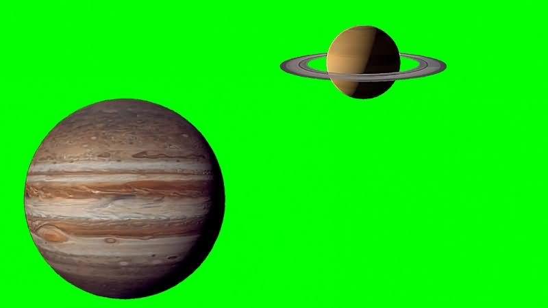绿幕视频素材土星木星