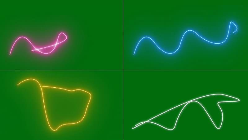 绿幕视频素材彩色光线