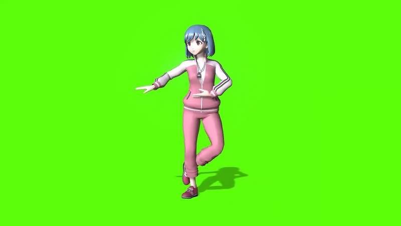 绿幕视频素材芭蕾女孩