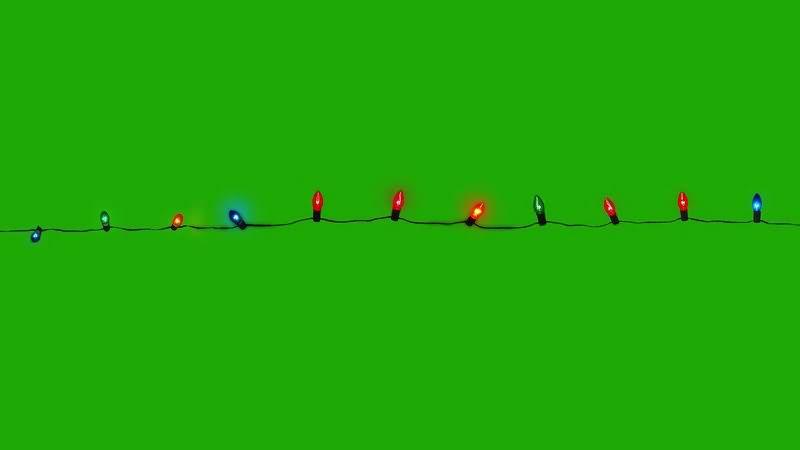 绿布视频素材彩灯