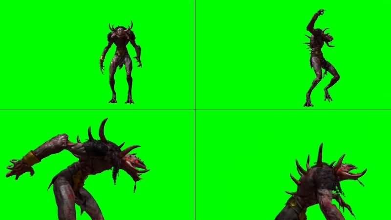 绿幕视频素材恶魔