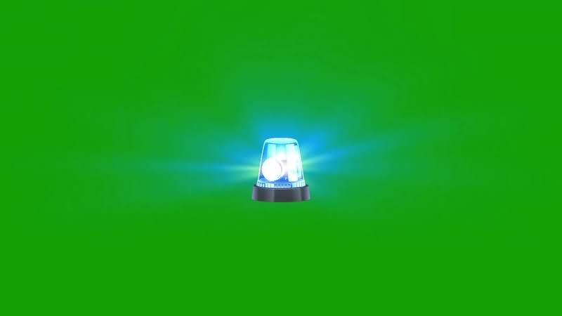 绿幕视频素材警灯