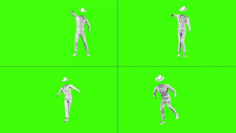 绿幕视频素材白衣舞者