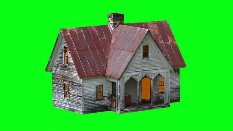 绿幕视频素材木屋