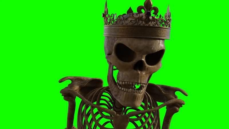 绿幕视频素材骷髅王