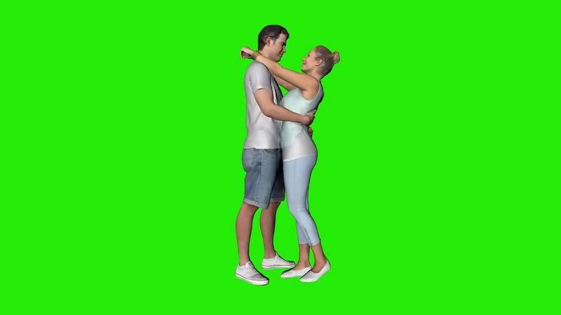 绿幕视频素材情侣