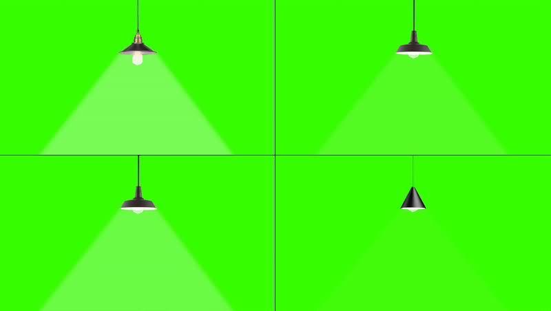 绿幕视频素材吊灯