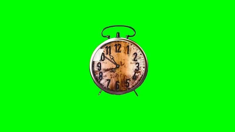 绿幕视频素材闹钟