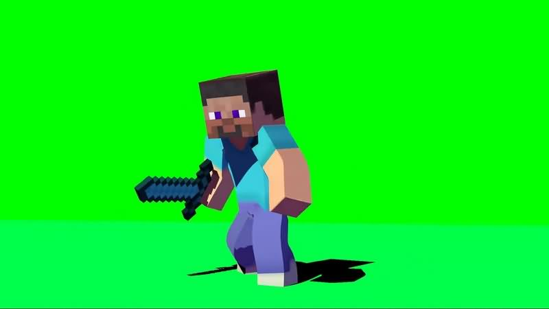 绿幕视频素材史蒂夫