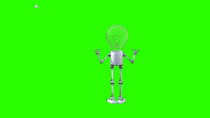 绿幕视频素材灯泡人