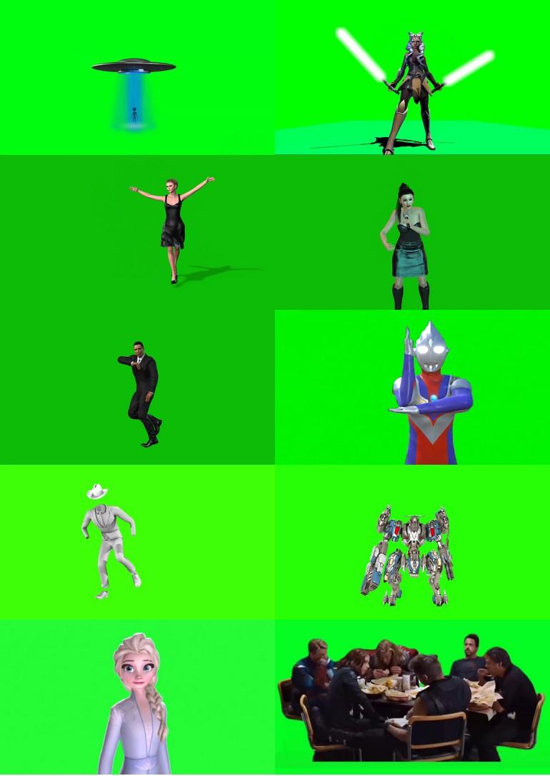 绿屏_绿布_绿幕人物|人像|真人|卡通人物|人群视频素材打包100部第七套