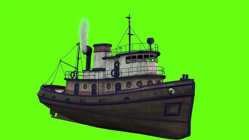 绿幕视频素材货轮