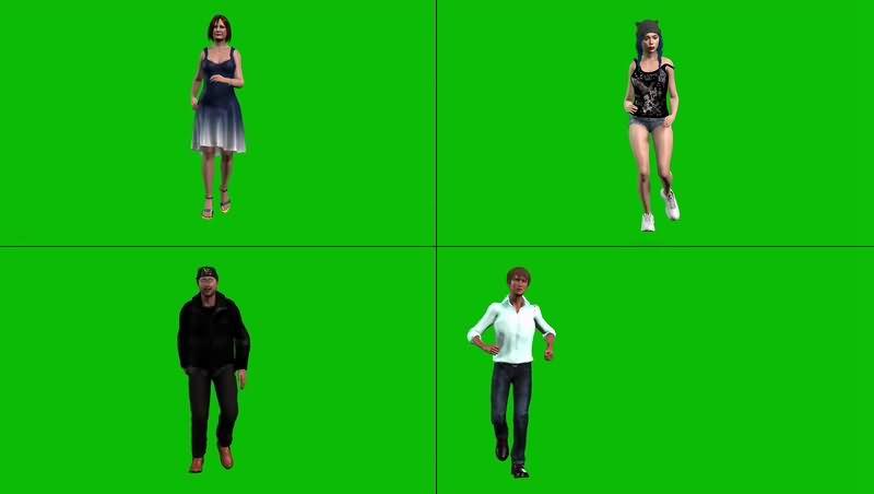 绿幕视频素材跑步