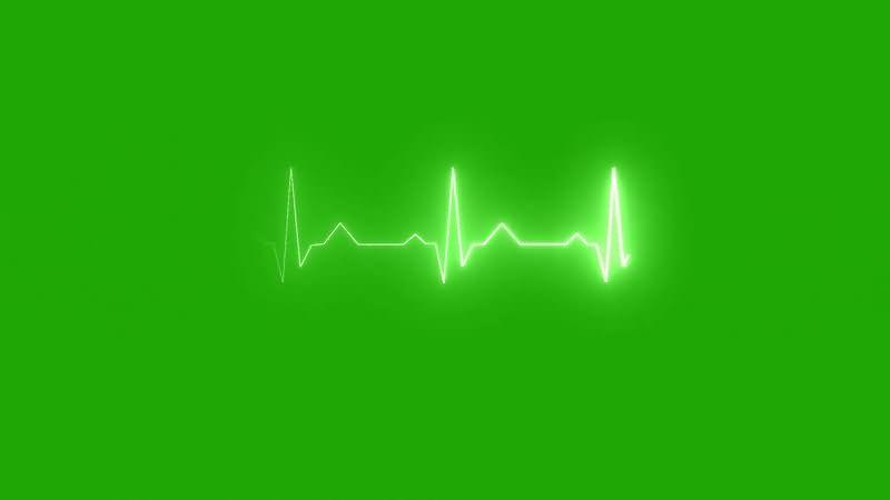 绿幕视频素材心电图