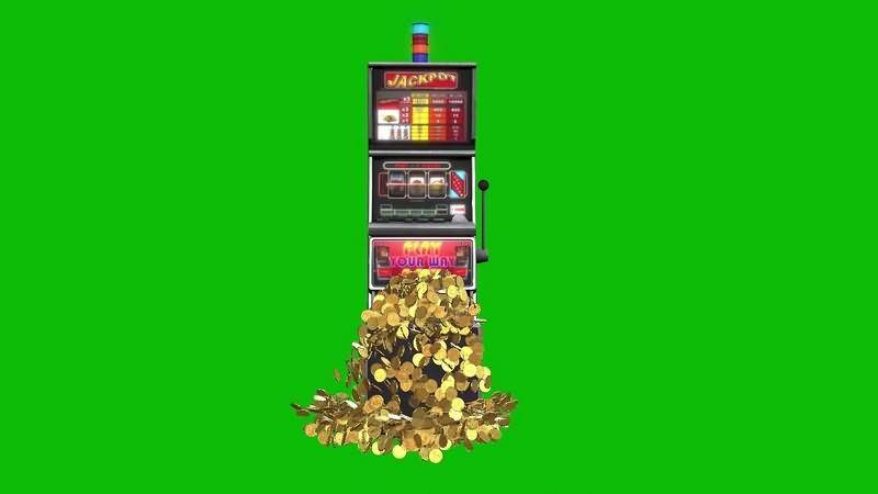 绿幕视频素材老虎机