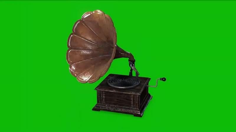 绿幕视频素材留声机