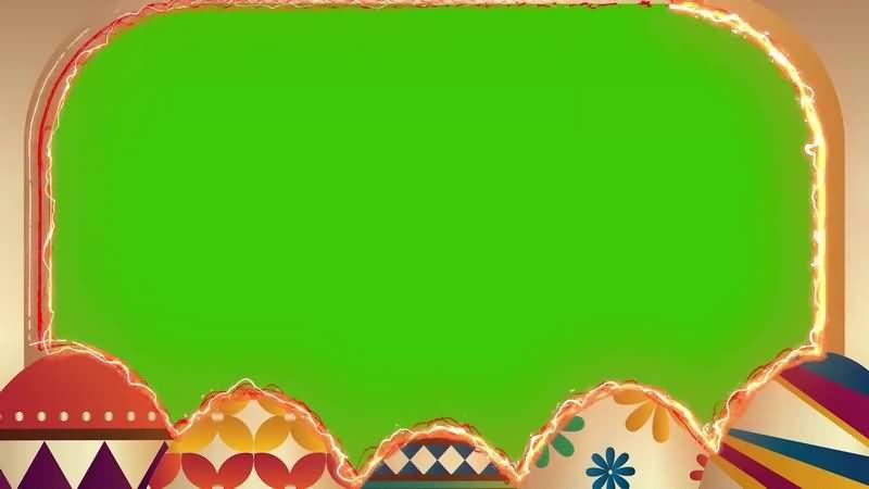 绿幕视频素材彩蛋相框