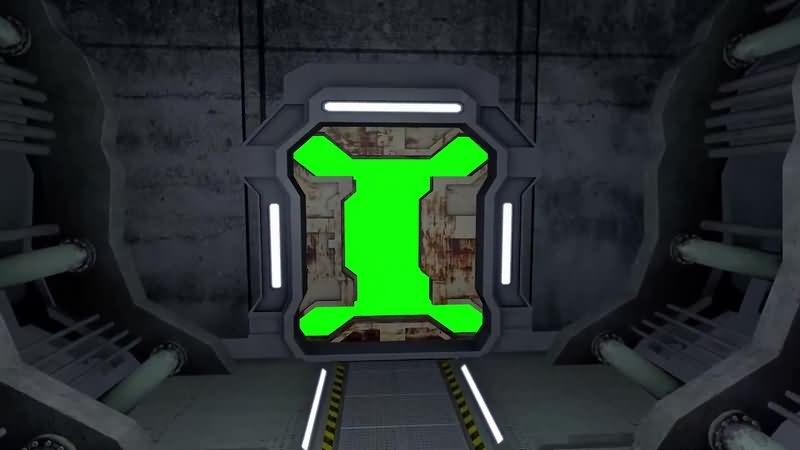 绿幕视频素材飞行仓门