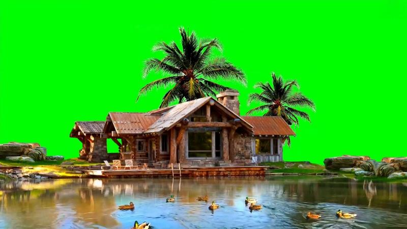 绿幕视频素材别墅