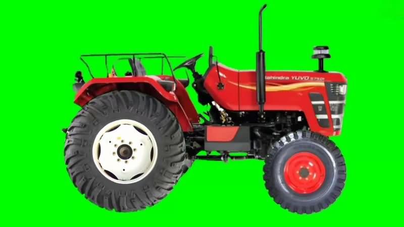 绿幕视频素材拖拉机