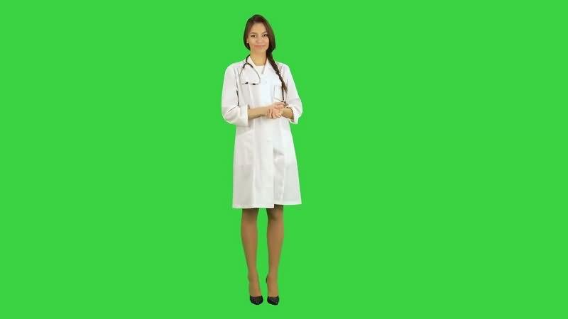 绿幕视频素材美女医生