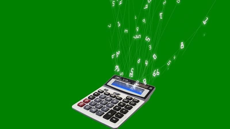 绿幕视频素材计算器