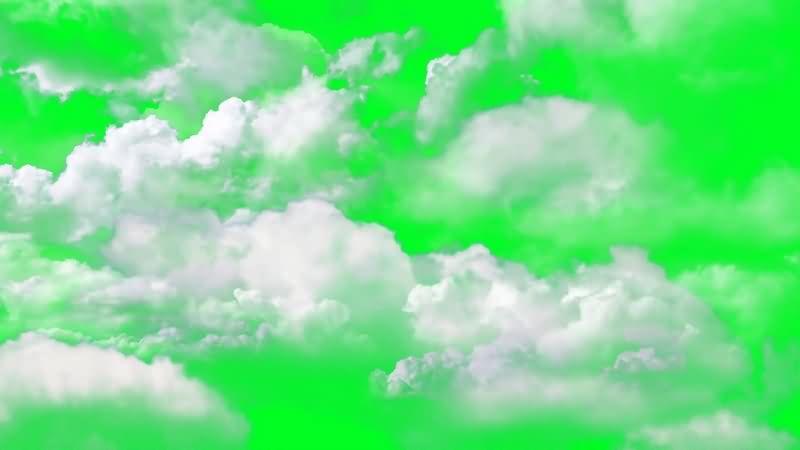 绿幕视频素材云朵