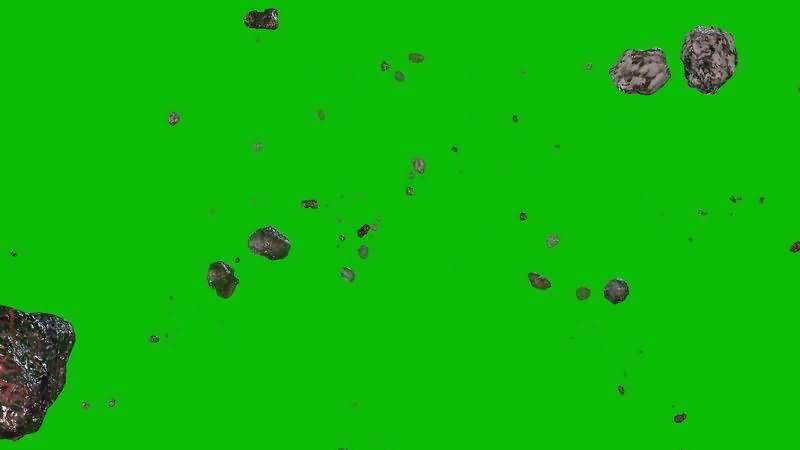 绿幕视频素材陨石雨