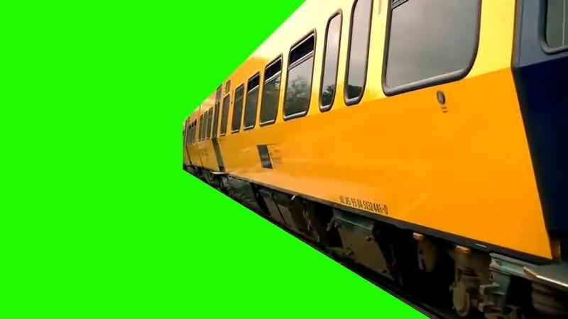 绿幕视频素材动车