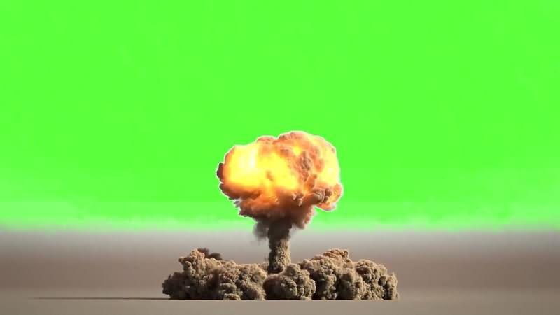 绿幕视频素材核弹打击