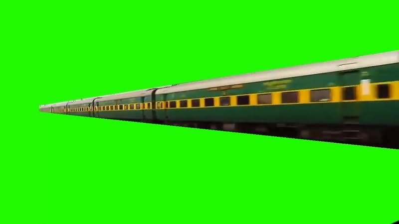 绿幕视频素材绿皮火车