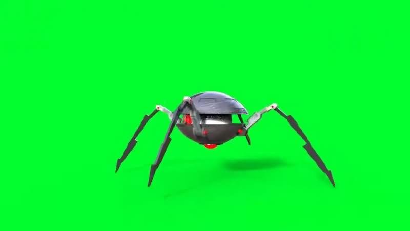 绿幕视频素材机器蜘蛛