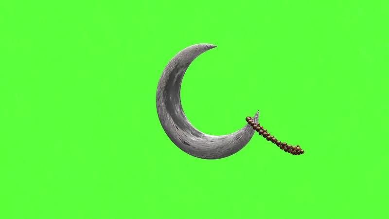 绿幕视频素材弯月手串