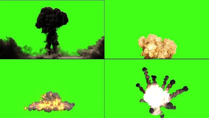 绿幕视频素材大爆炸