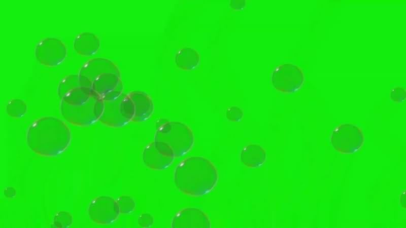 绿幕视频素材气泡