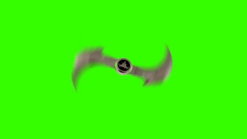绿幕视频素材回旋飞刀