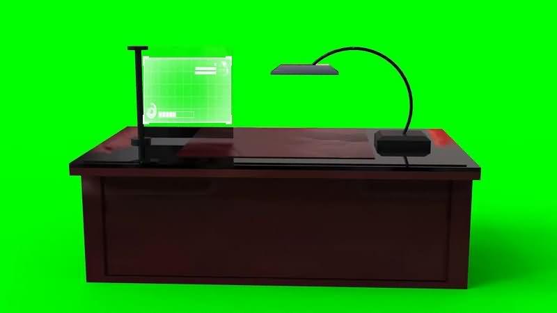绿幕视频素材办公桌