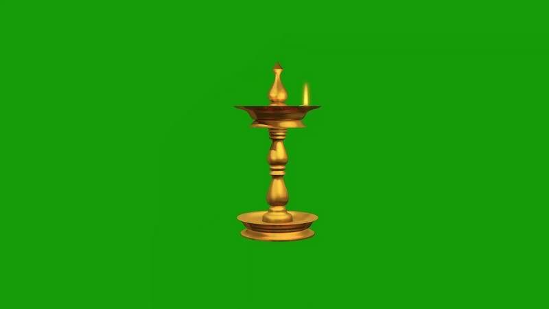 绿幕视频素材古灯