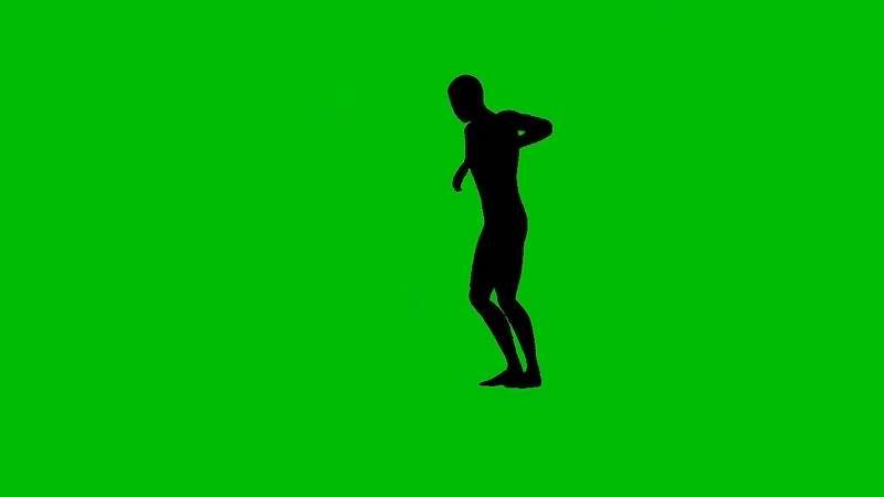 绿幕视频素材跳舞男子