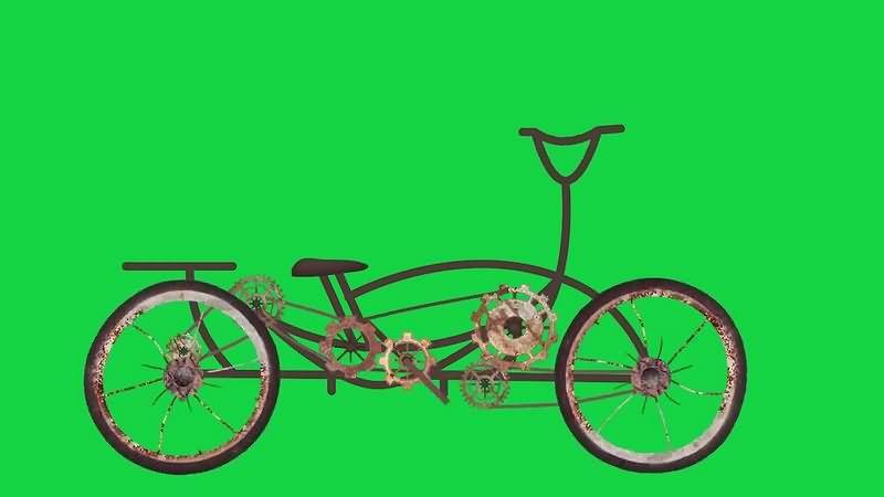 绿幕视频素材自行车
