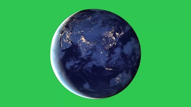 绿幕视频素材地球