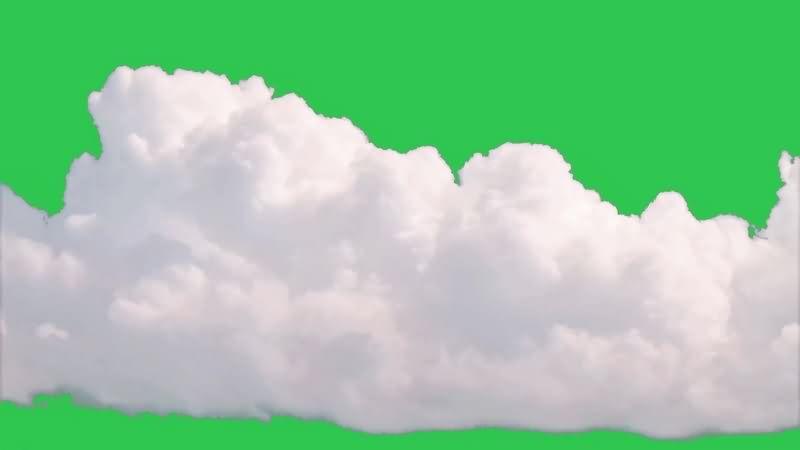 绿幕视频素材白云